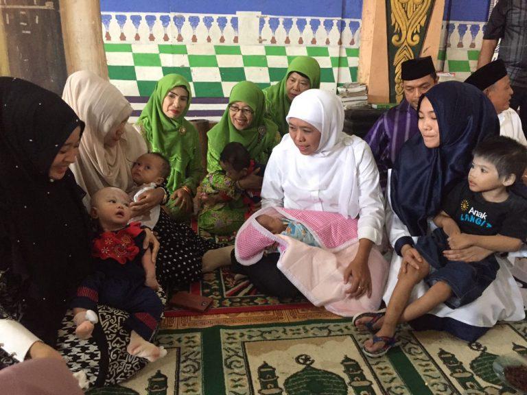 Lindungi Hak Dasar Anak, Khofifah Perjuangkan Akta Kelahiran Anak-anak Yatim Piatu Jawa Timur