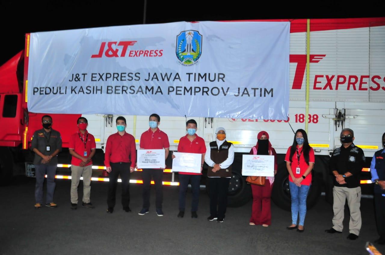 &T Express Kirim Bantuan Beras dan Perlengkapan Kesehatan ke Pemprov Jatim