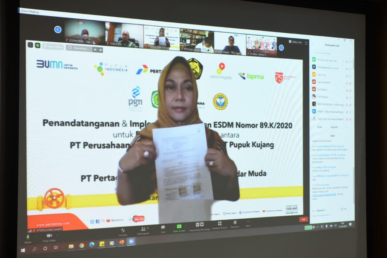 Melalui PT Pertagas Niaga, PGN Suplai Gas 54 BBTUD ke PT Pupuk Iskandar Muda