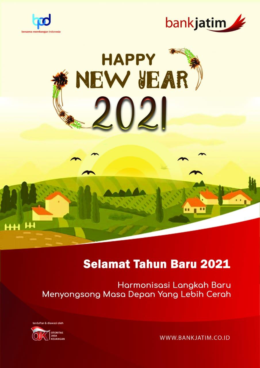 Bank Jatim Mengucapkan Selamat Tahun Baru 2021