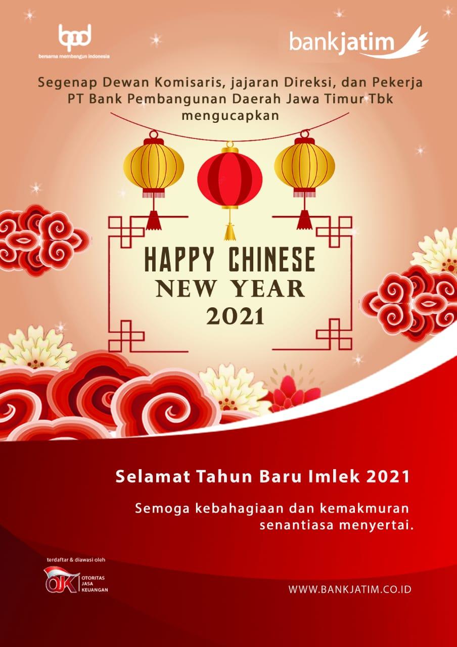 Bank Jatim Mengucapkan Selamat Tahun Baru Imlek