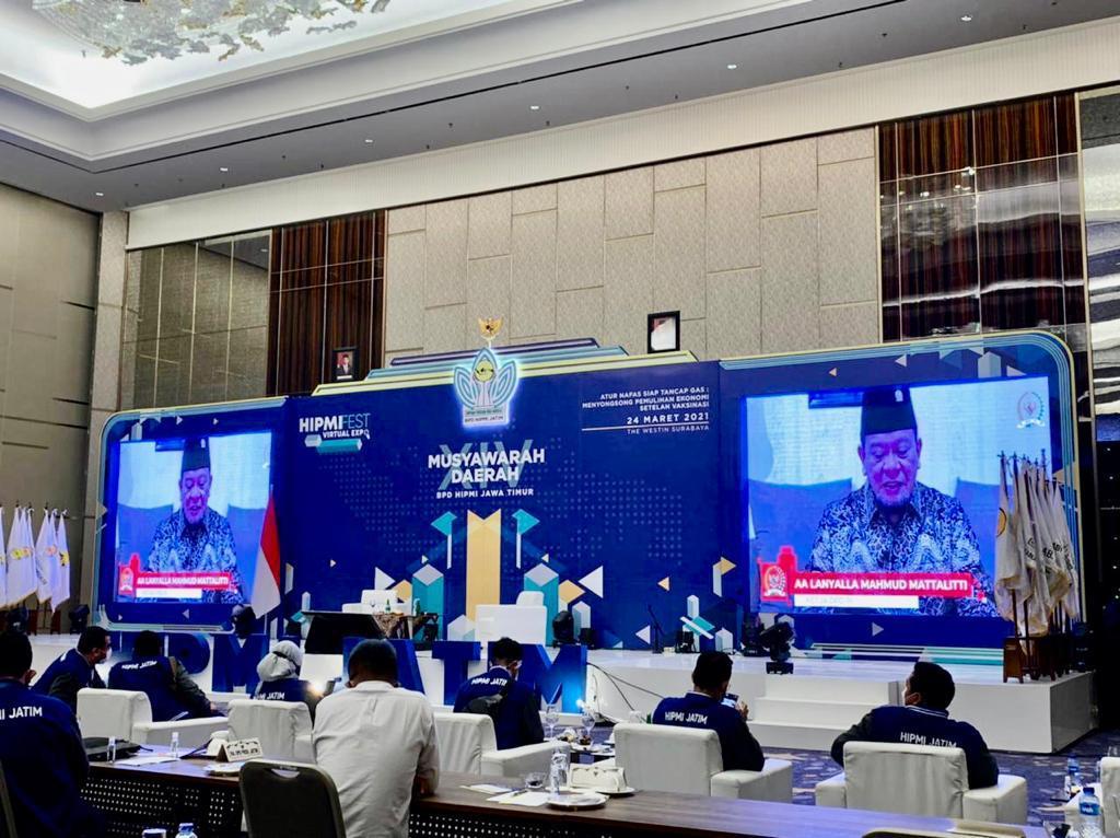 Bicara di Musda XIV BPD HIPMI Jatim, Ketua DPD RI Sampaikan Cara Cepat Pulihkan Ekonomi Daerah