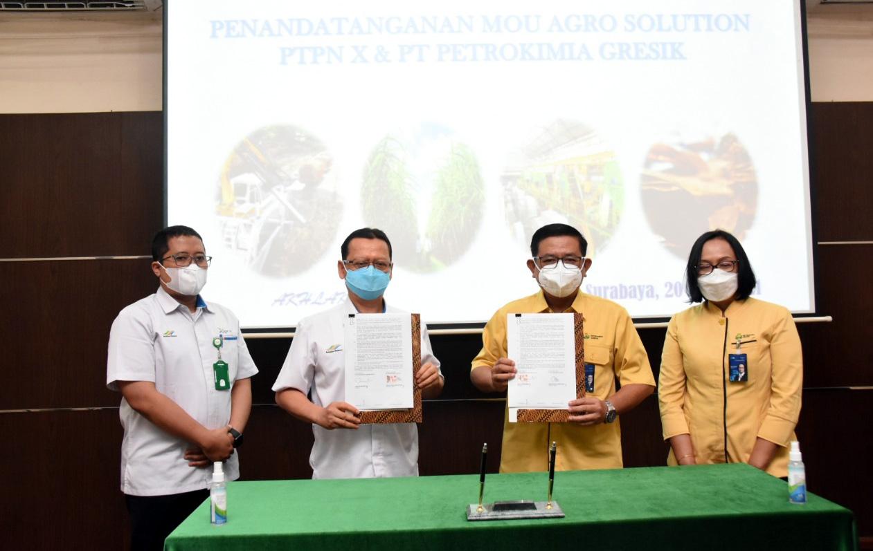 Perluas Kerjasama Agro Solution, PG MOU dengan PTPN X