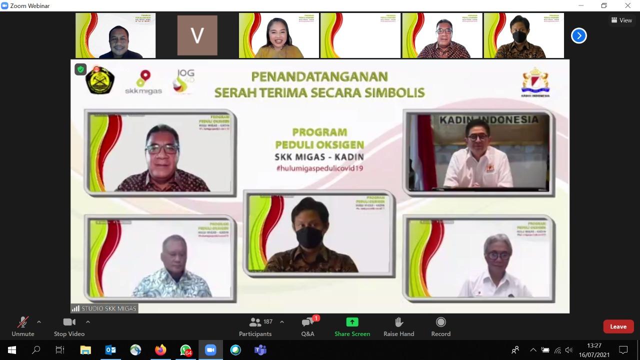 Hulu Migas – Kadin Indonesia Bersinergi Tanggulangi Covid 19 Penuhi Kebutuhan Oksigen 1000 Ton/hari