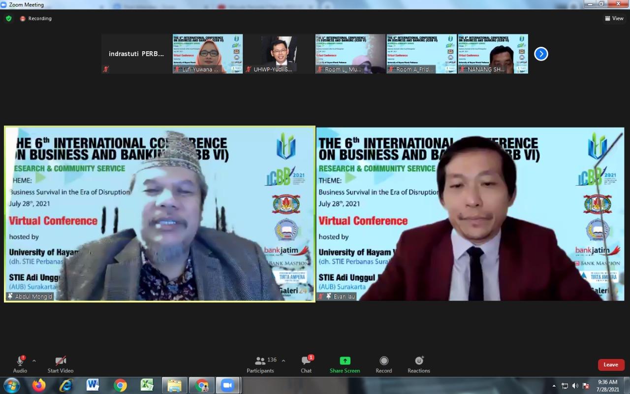Universitas Hayam Wuruk Perbanas Gelar6th International Conference on Business & Banking (ICBB)